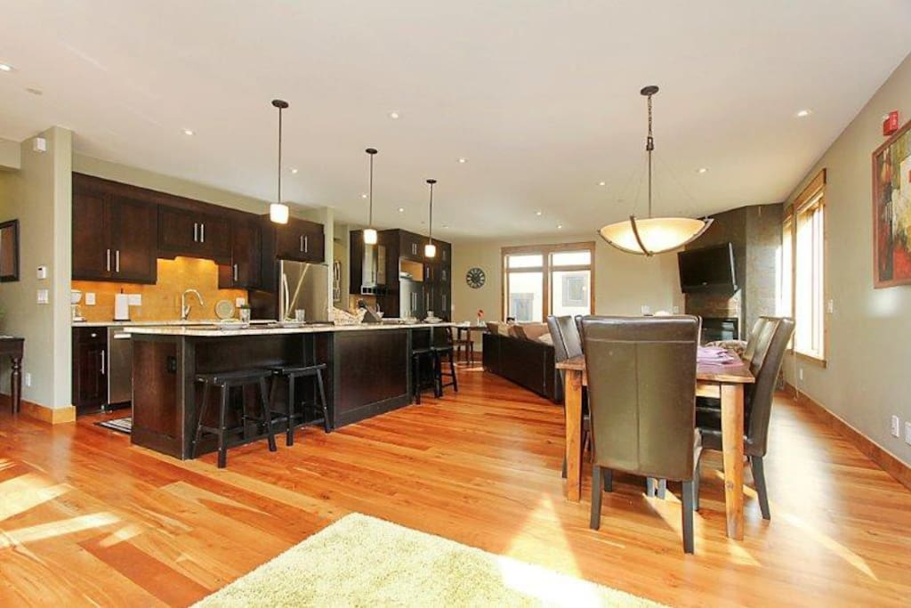 Enjoy everyone's company with the stylish open floor plan