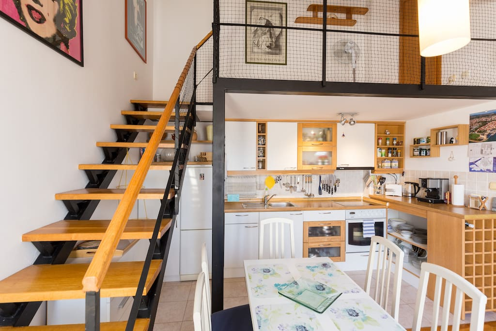 Stairs/Kitchen/Dining