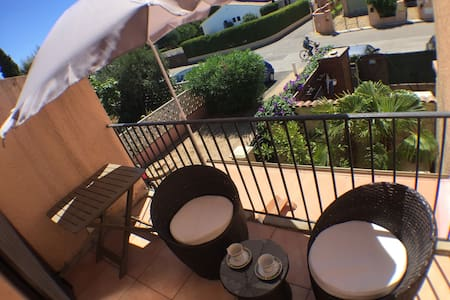 Modern flat 5mn from the beach - La Londe-les-Maures - Apartament