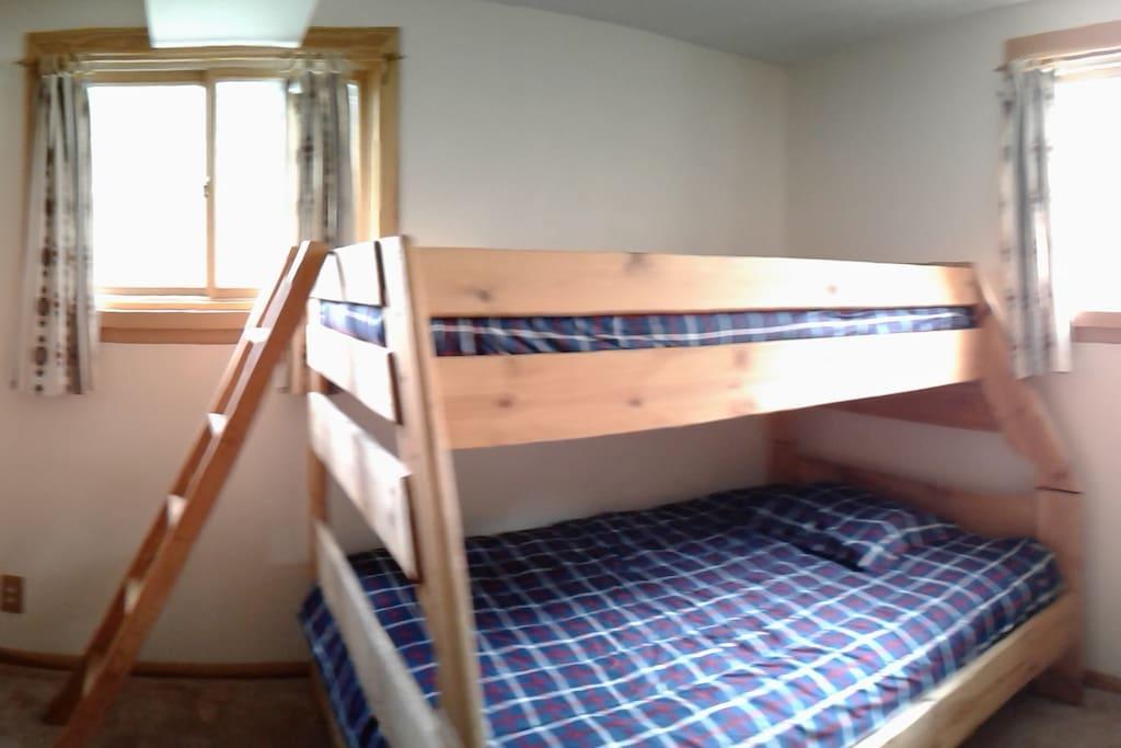 Brown Bunkhouse Bedroom