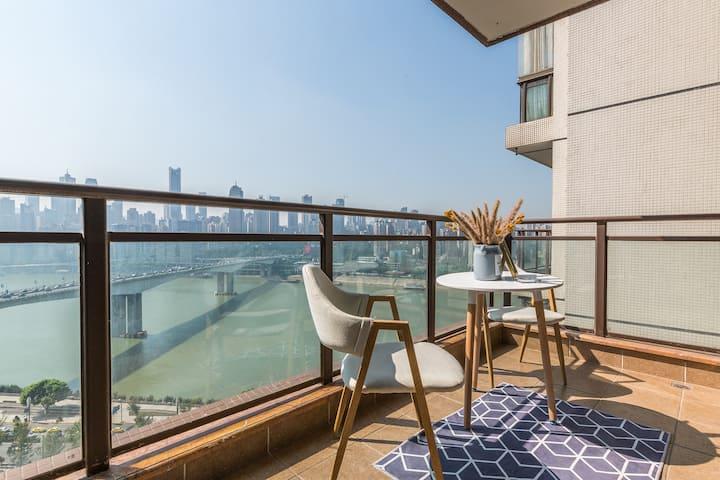『极致观江』已消毒-北滨路&现代热带雨林风&超大阳台环幕影院两居室