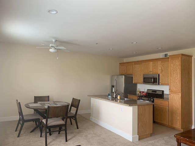 Quiet family size apartment.