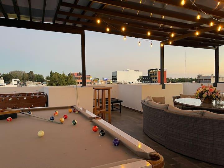 Departamento/loft de lujo, roof garden  privado