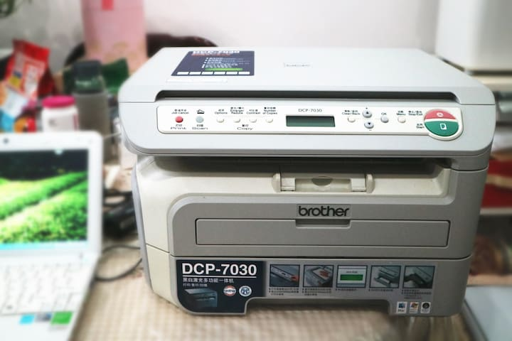 打印扫描传真一体机可供使用(有可以上外网的wifi)