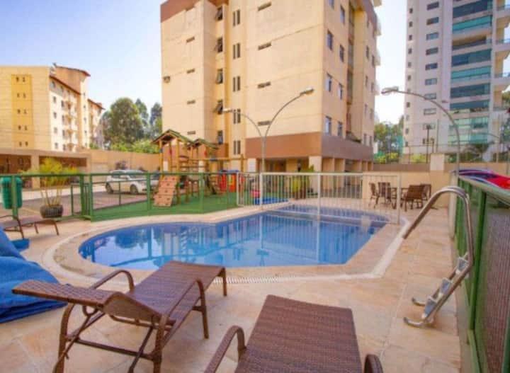 Apartamento (inteiro) - 2 quartos, seguro, piscina