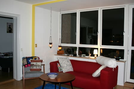 Lovely colorful apartment on Frederiksberg, Copenhagen, with living room