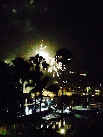 New Years Eve from the apartment balcony