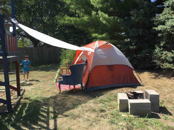 *Glamping* w nature & 1 mile north of Purdue 体验帐篷