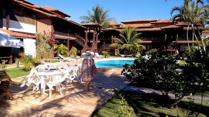 BUZIOS - GERIBÁ APART HOTEL apt 109 (280 m praia)