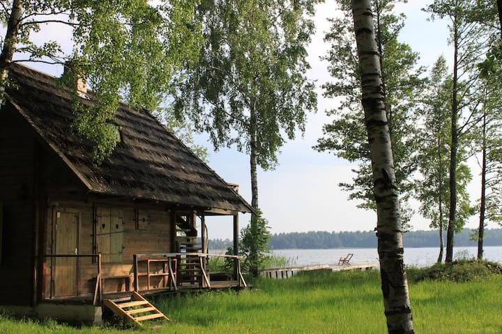 Lakeshore sauna house for 2 - Daugai