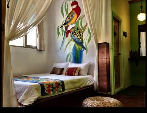 緊鄰沙灣峇里島街景雙人房 [Bali, Ocean Blue Inn, Baishawan]