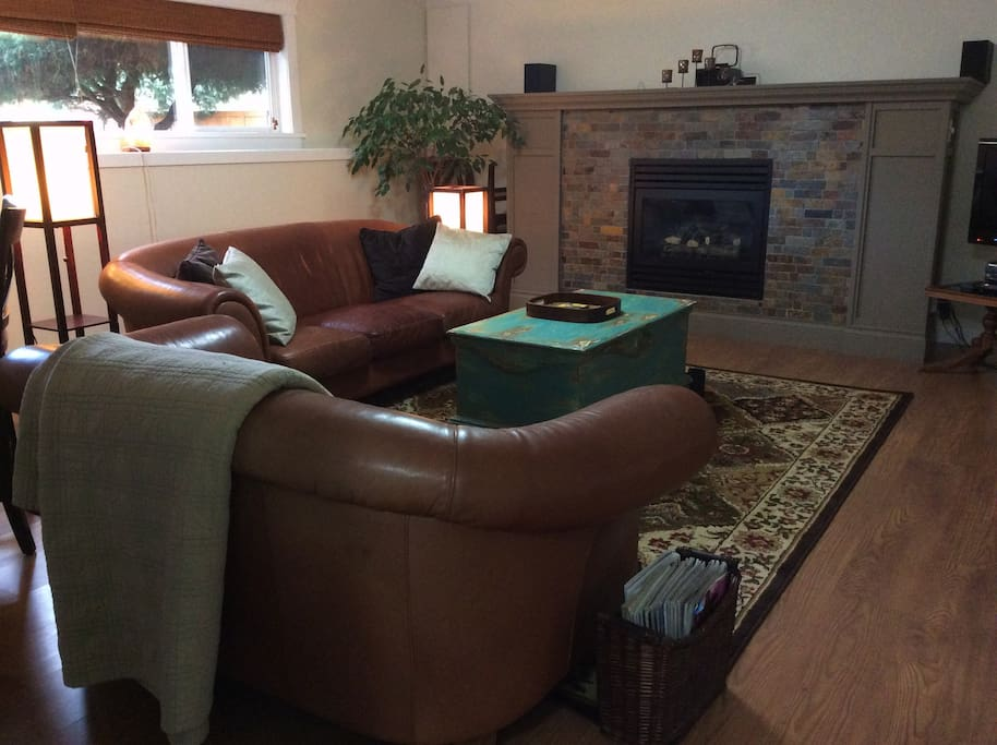 Warm and cozy family room