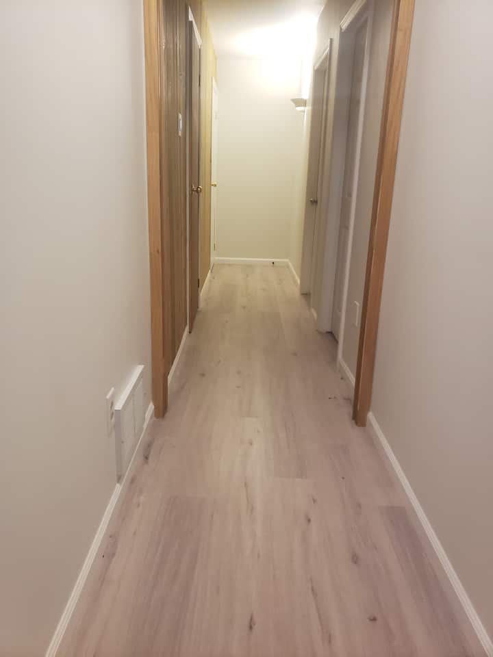 Clean basement room in a Greater Sudbury Home