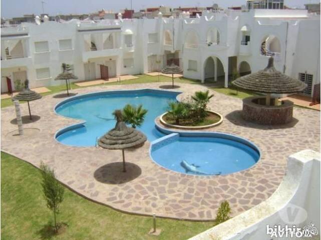Duplex ds res balneaire/piscs/verdure/vue atlantic - Sidi Bouzid - Casa de campo