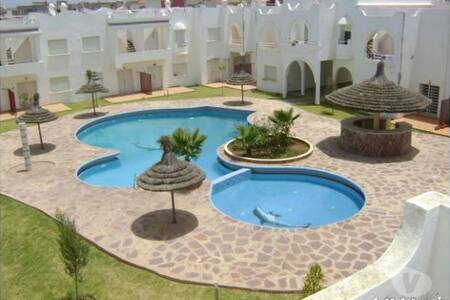 Duplex ds res balneaire/piscs/verdure/vue atlantic - Sidi Bouzid - Villa
