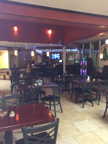 Community Bar and Grill. We also have a Olympic Size Heated Pool at the Center that is under renovations until 02/04/2019. Included Sauna Room and Pool Table.  Every 2nd Friday Night is Karaoke Night. and Saturdays is Bingo