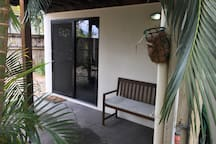 Secure location in a tropical garden