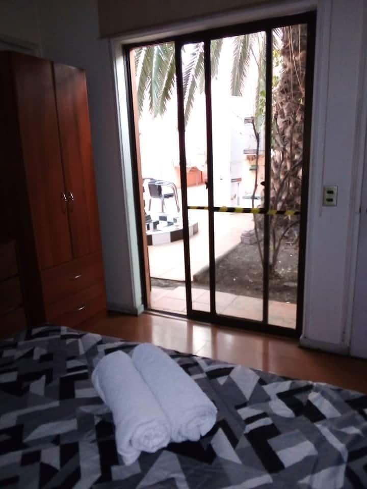 habitación doble deluxe b/p hostel providencia