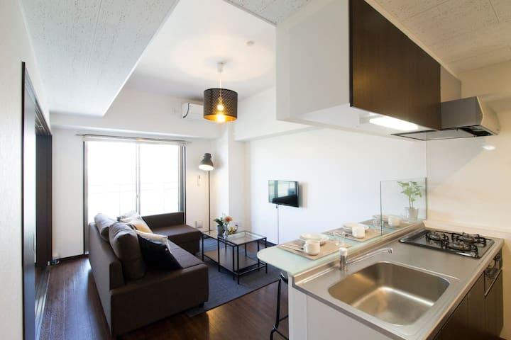 新建的公寓,步行5分鐘即可到達和平公園,70㎡寬敞的起居室,#801