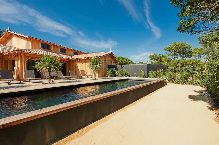 Villa cap ferret, proche bassin et océan, piscine