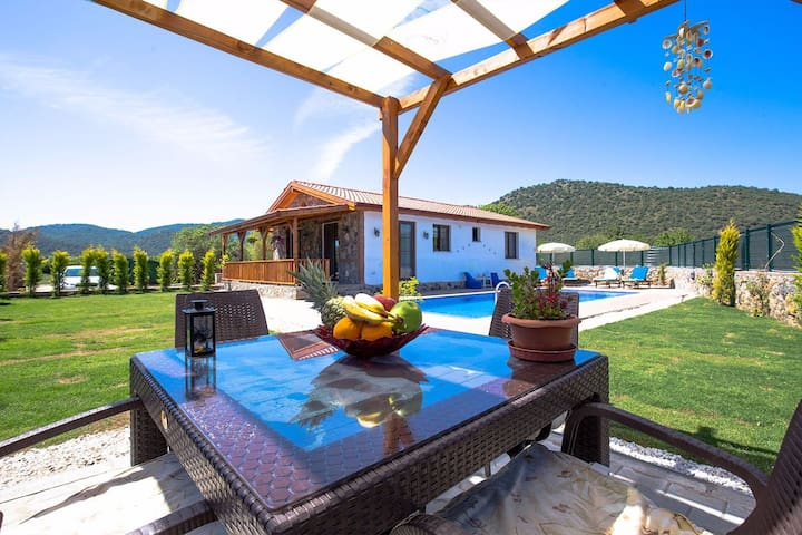 Detached holiday villa in Kayakoy Fethiye.
