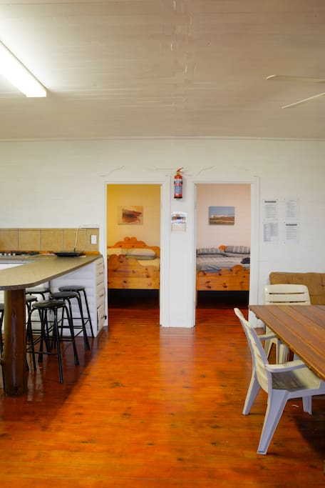 Fully equipped Kitchen. Lounge area with 2 Double Bed Sleeper Couches