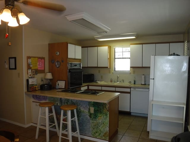 Full kitchen with dishes, etc.
