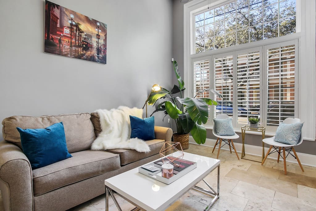 Living room seating area- comfortable and chic