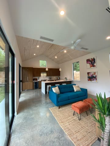 Walkable, modern home plus cottage & private yard