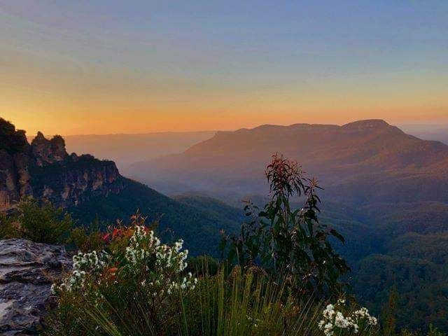 Three sisters at sunrise, only 10 minutes drive away