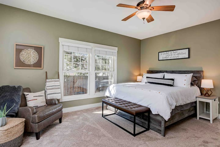 Spacious and private master suite