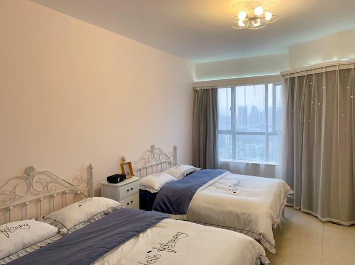 11四人入住 公寓 带阳台洗衣机 独立房源 近澳门拱北口岸
