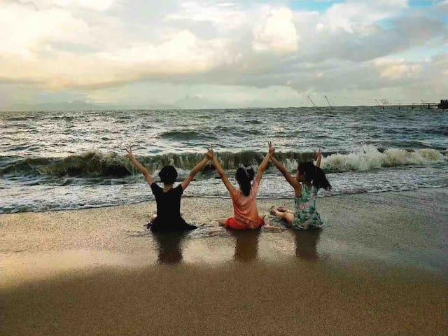 靠近海边  珠海淇澳岛听海轰趴聚会别墅B号馆