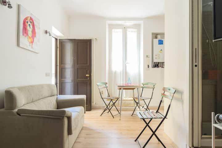 Grazioso open space, in casa tipica vecchia Milano
