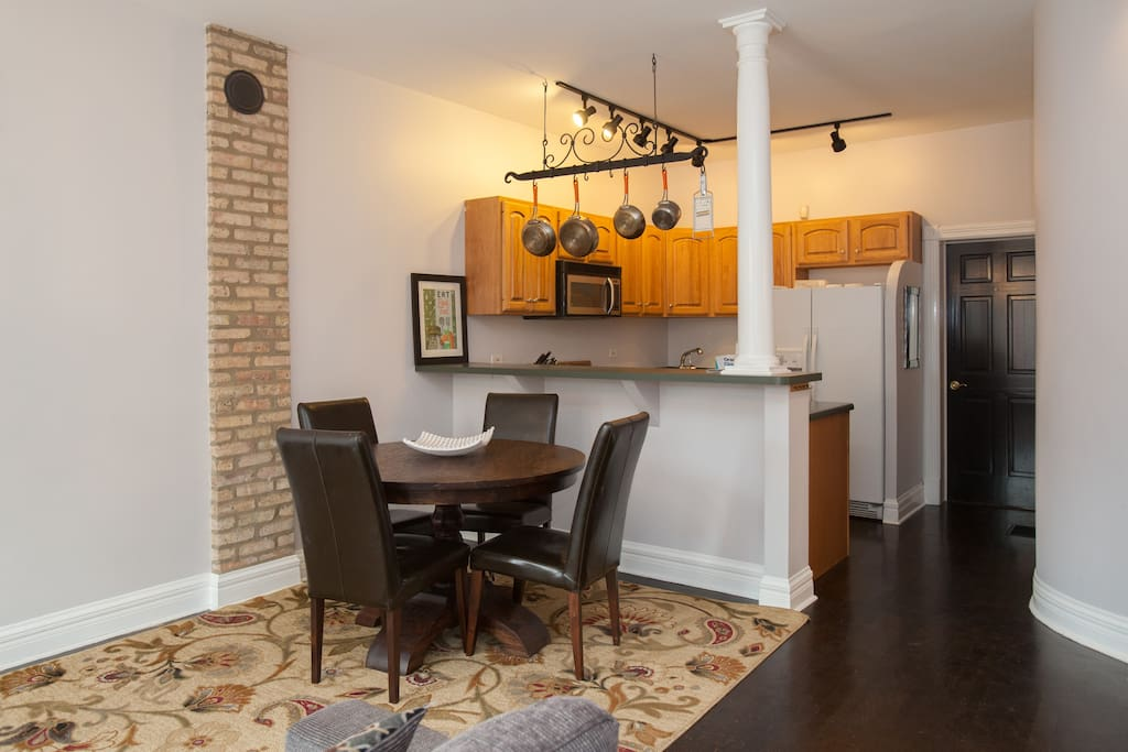 dining and kitchen apt 1