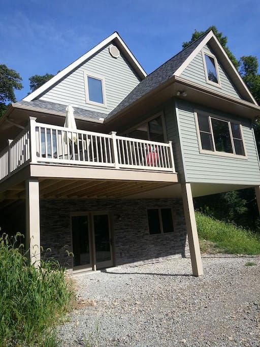 Brand New Construction with 7 rooms, spacious deck and ample parking.