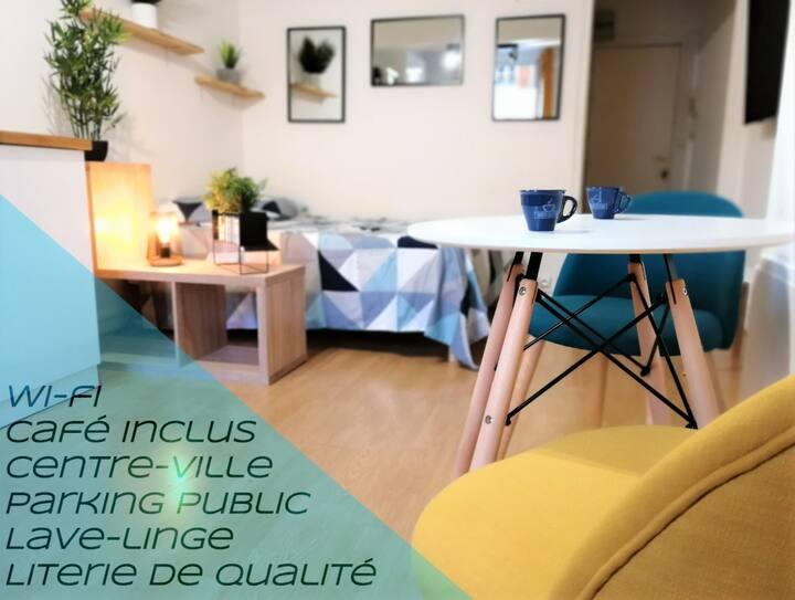 """Studio chaleureux """"Le Coeur ♡""""-Troyes Centre Ville"""