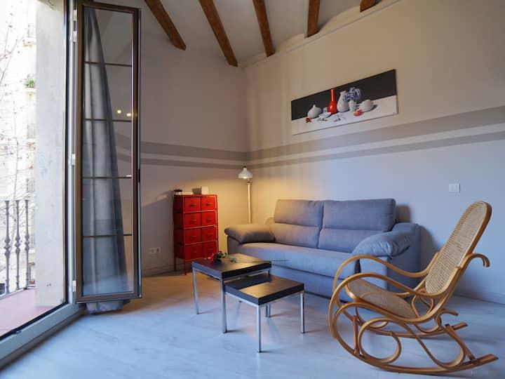 Chic studio i ett perfekt läge i Barcelona