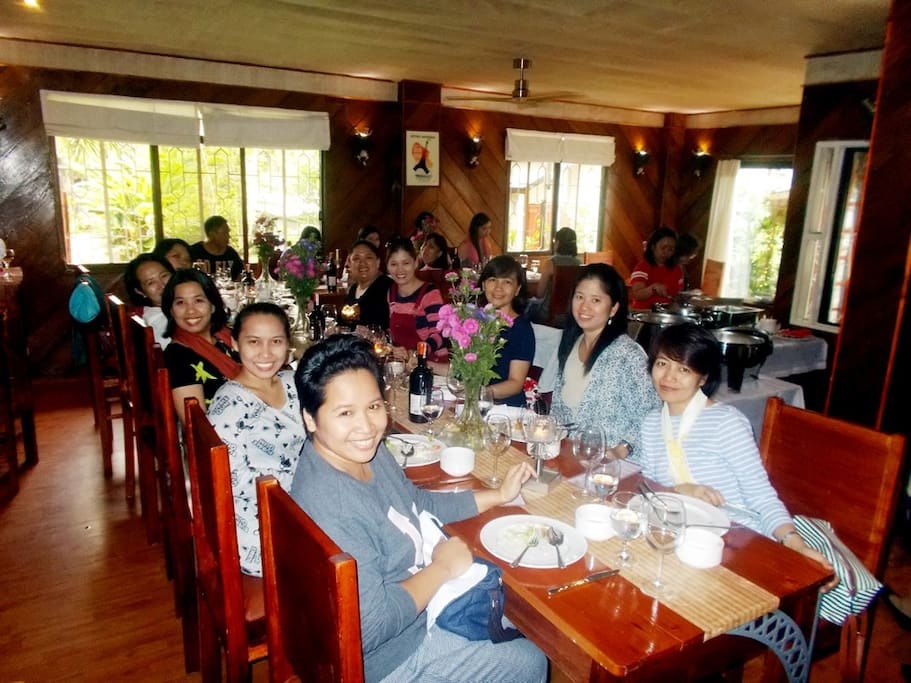 The visit of a joyful group of Manila teachers, lunching at our Dining room