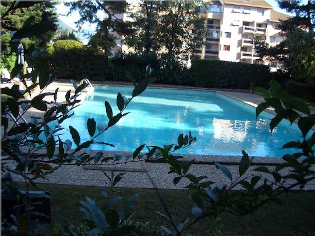 Studio avec piscine et parking prive - Annecy - Apto. en complejo residencial
