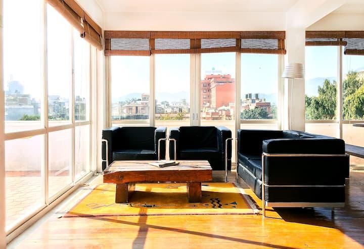 Contemporary Thamel Penthouse 2BHK