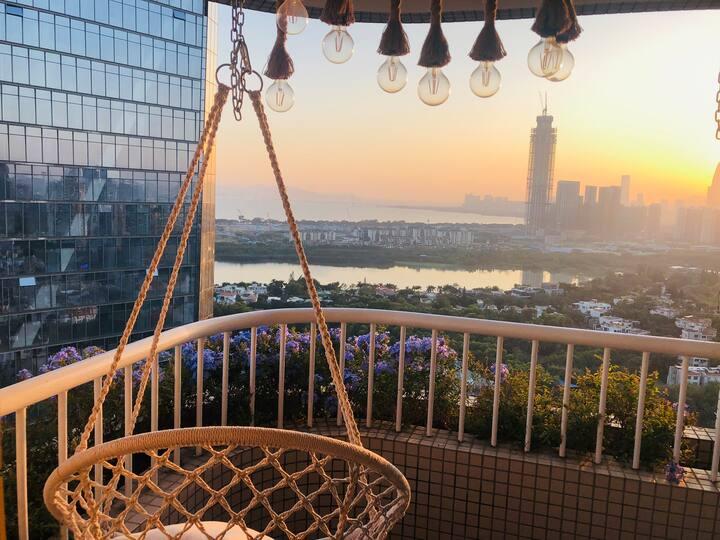 四房 市值2500万 绝美一线海景 华侨城 世界之窗 欢乐谷 锦绣中华 地铁超方便