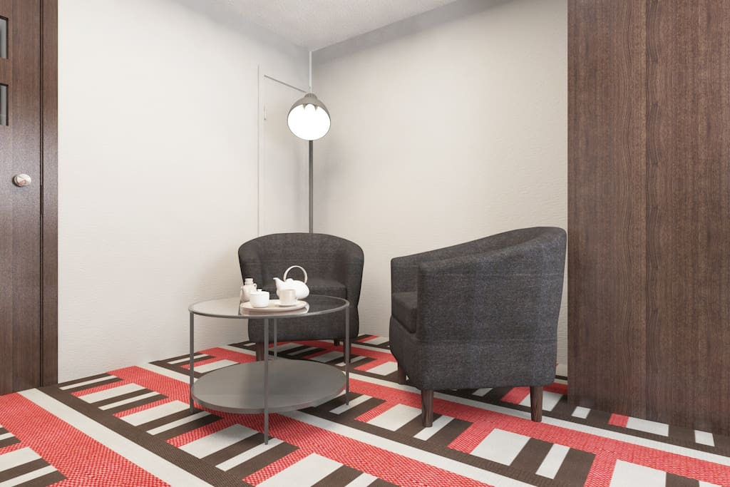 3D image of living room