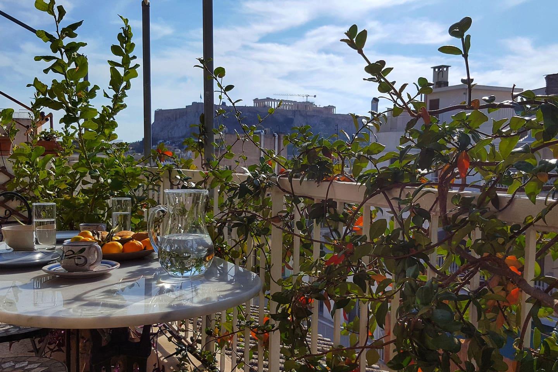 Private veranda, Acropolis view