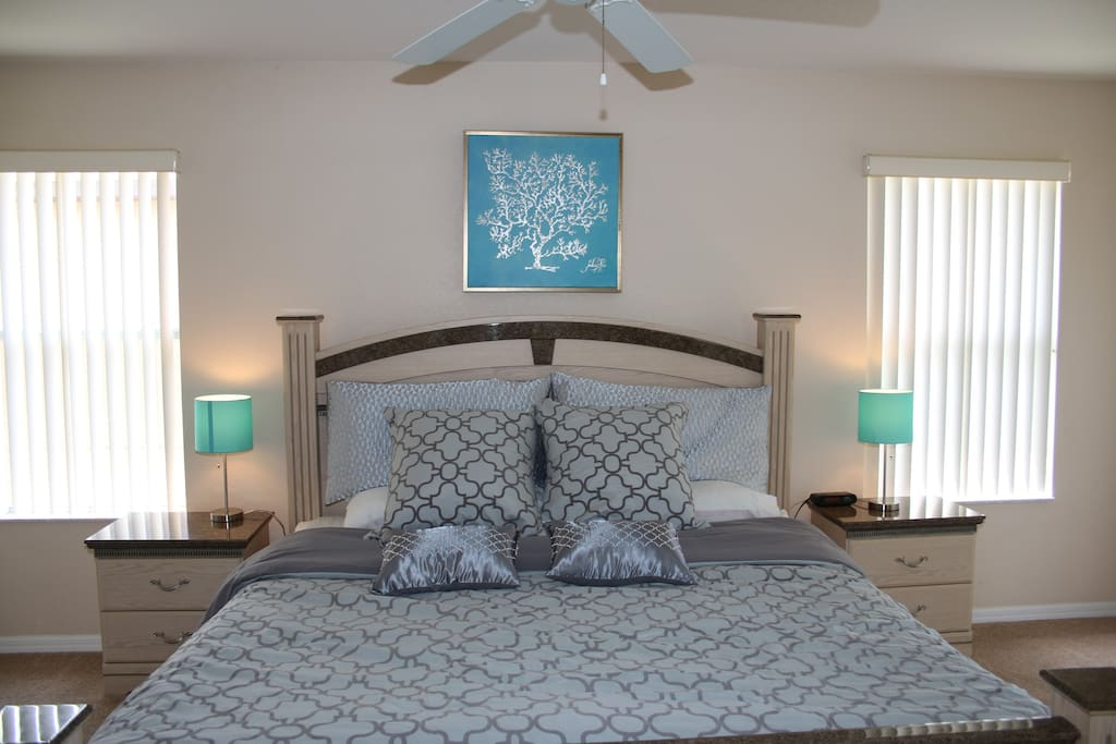 Beautiful, bright Master King bedroom