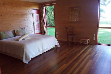 Stunning, pvt, beach view room - Takaka - Hus