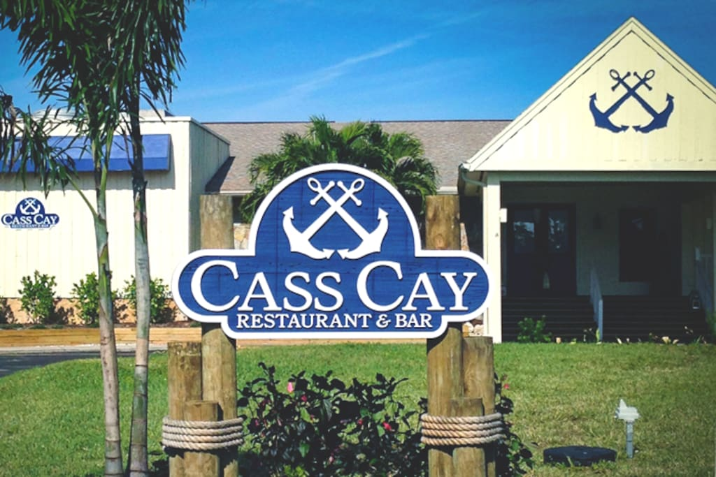 Located within the Burnt Store Community is waterfront Cass Cay Restaurant specializing in steak and seafood cuisine.