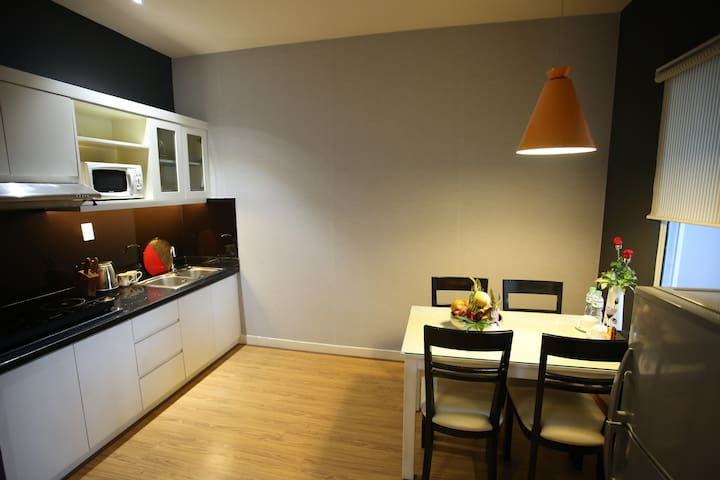 One Bedroom service apartment free clean ,