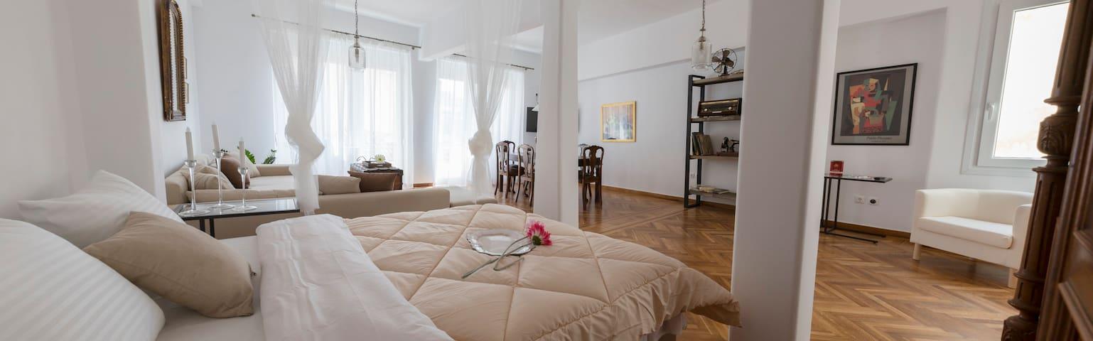 ODYSSEY:120 m2 with Sauna&acropolis view balcony - Athina - Apartment