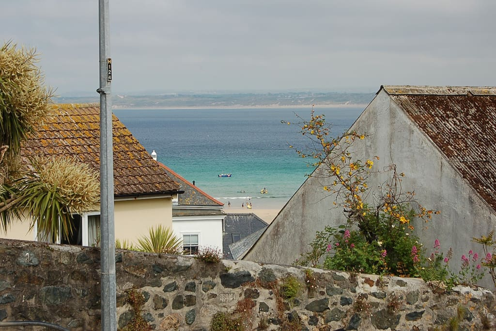 The view of the harbour beach, 5 paces from the front door step.
